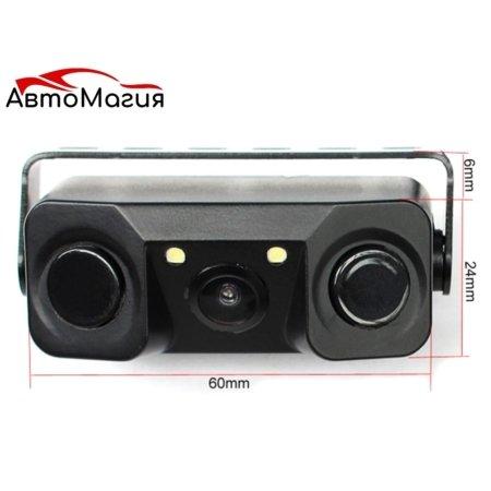 Камера заднего вида с датчиками парковки Winca №452