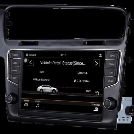 Штатная магнитола Carmedia MID-3912 для Volkswagen GOLF 7 2013+ встроенный 4G/LTE модем