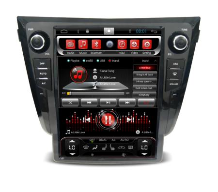Штатное головное устройство Carmedia SP-12106-T8 для Nissan Qashqai II 2014+ X-Trail 2015+ (T32) в стиле Tesla
