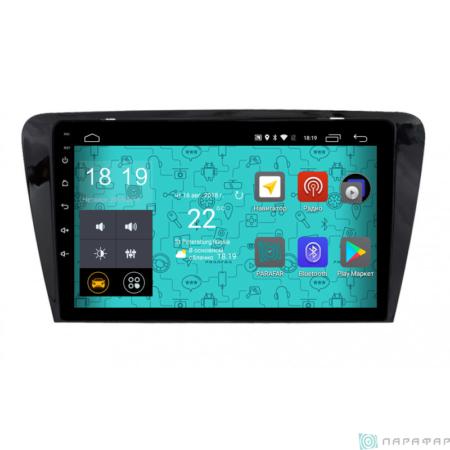 Штатная магнитола Parafar для Skoda Octavia 2013+ на Android 8.1.0 (PF993LTX)