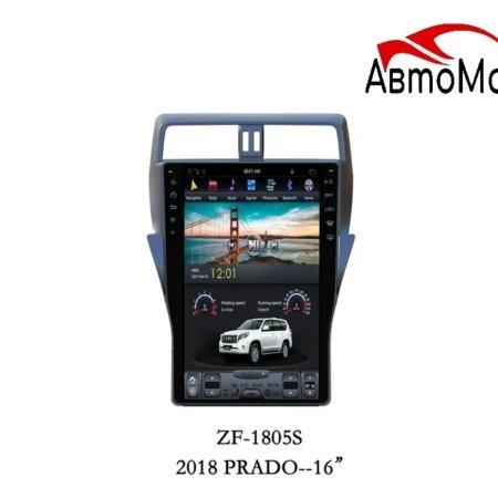 Штатная магнитола для Toyota Land Cruiser Prado 150 2017+ CARMEDIA ZF-1805 Tesla-Style