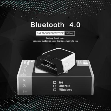 Автомобильный сканер OBD2 ELM 327 V2.2 Bluetooth 4.0 (Чип PIC18F25K80)