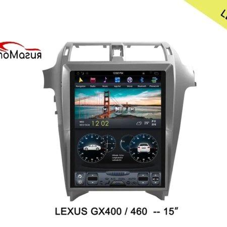 Штатная магнитола для Lexus GX 460 (2014-2017) CarMedia ZF-1815 в стиле Tesla