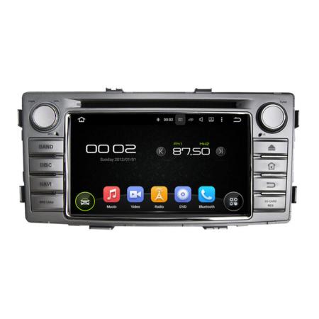 Штатная магнитола CARMEDIA QR-6216 для Toyota Hilux 2011-2015 на Android