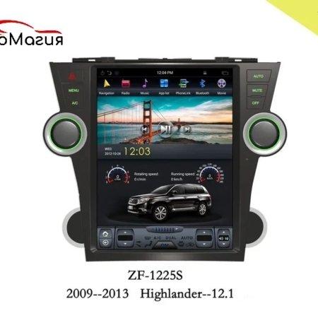 Штатная магнитола CarmediaZF-1225-DSP для Toyota Highlander 2007-2013 U40 в стиле Tesla