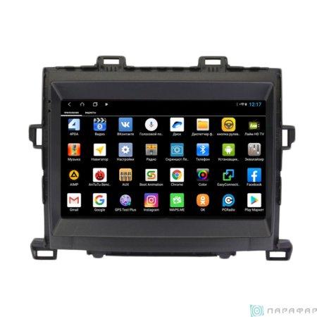 Штатная магнитола Parafar для Toyota Alphard 2008-2014 на Android 8.1.0 (PF698XHD)