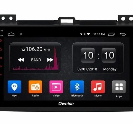 Штатная магнитола CARMEDIA OL-9696-P6 для Toyota Land Cruiser Prado 120 2002-2009 на Android