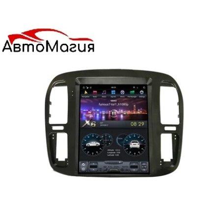 Штатная магнитола Carmedia ZF-1268 для Toyota Land Cruiser 100 2002-2008 Android в стиле Tesla