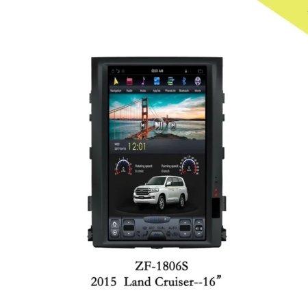 Штатная магнитола CarmediaZF-1816H для Toyota Land Cruiser 200 2007-2015 Android в стиле Tesla