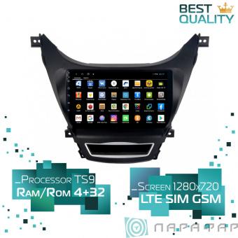 Штатная магнитола Parafar для Hyundai Elantra 2010-2013 на Android 8.1.0 (PF360XHD)