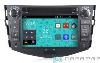 Штатная магнитола Parafar 4G LTE для Toyota RAV4 2006-2012 с DVD на Android 7.1.1 (PF018D)