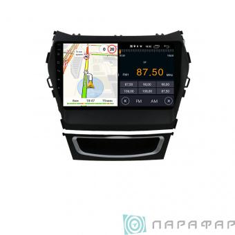 Штатная магнитола Parafar для Hyundai Santa Fe 3 2012+ на Android 8.1.0 (PF209LTX)